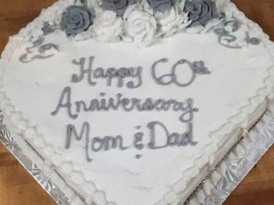 Sixty Anniversary Cake