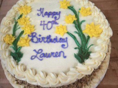 Yellow Flower Birthday Cake